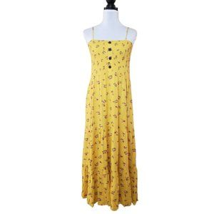 Daily Special Women's Floral Yellow Sun Dress XL
